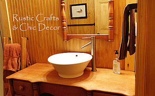 budget cabin diy bathroom vanity, home decor, plumbing