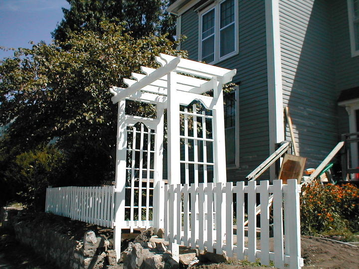 new arbor and revamped old fence, curb appeal, fences, outdoor living