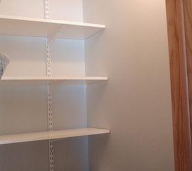 Coat Closet Made Into A Simple Walkin Pantry, Closet, Storage Ideas, Back  Shelfing