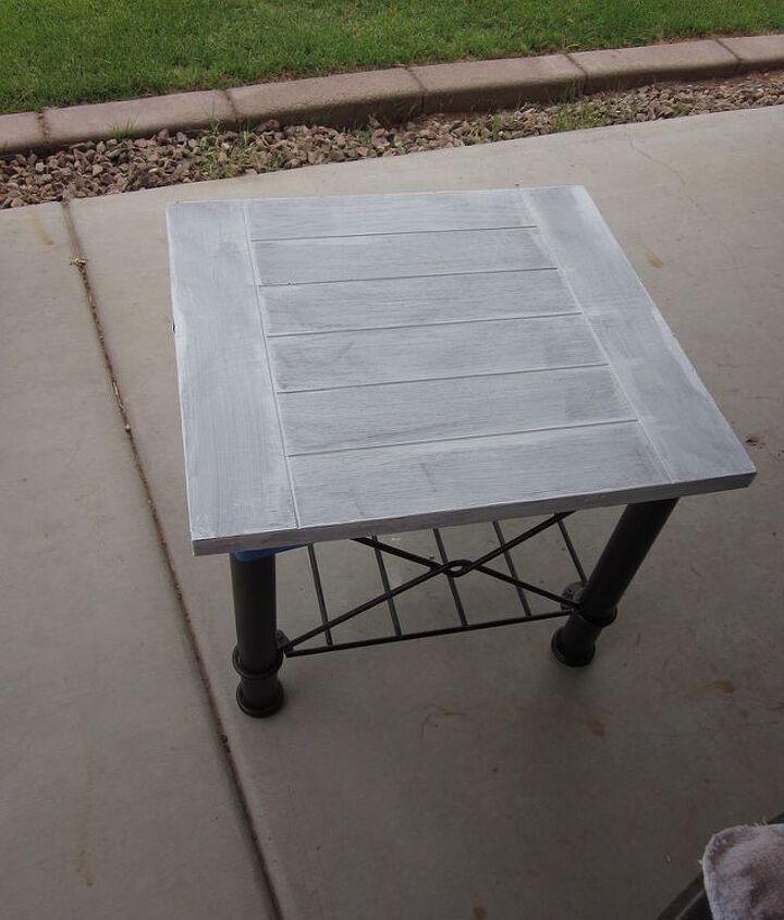 Tables after coat of primer.