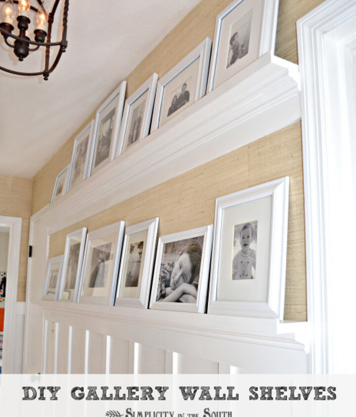 Hallway with Gallery Shelves