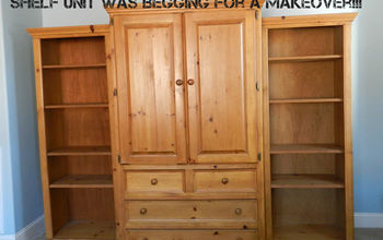 Pottery Barn Pine Wall Unit from the 1990's - Makeover (before & after pics)