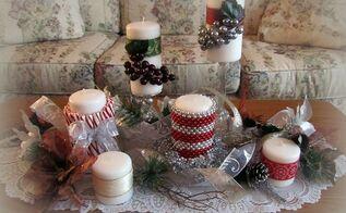 holiday candle decor, seasonal holiday decor