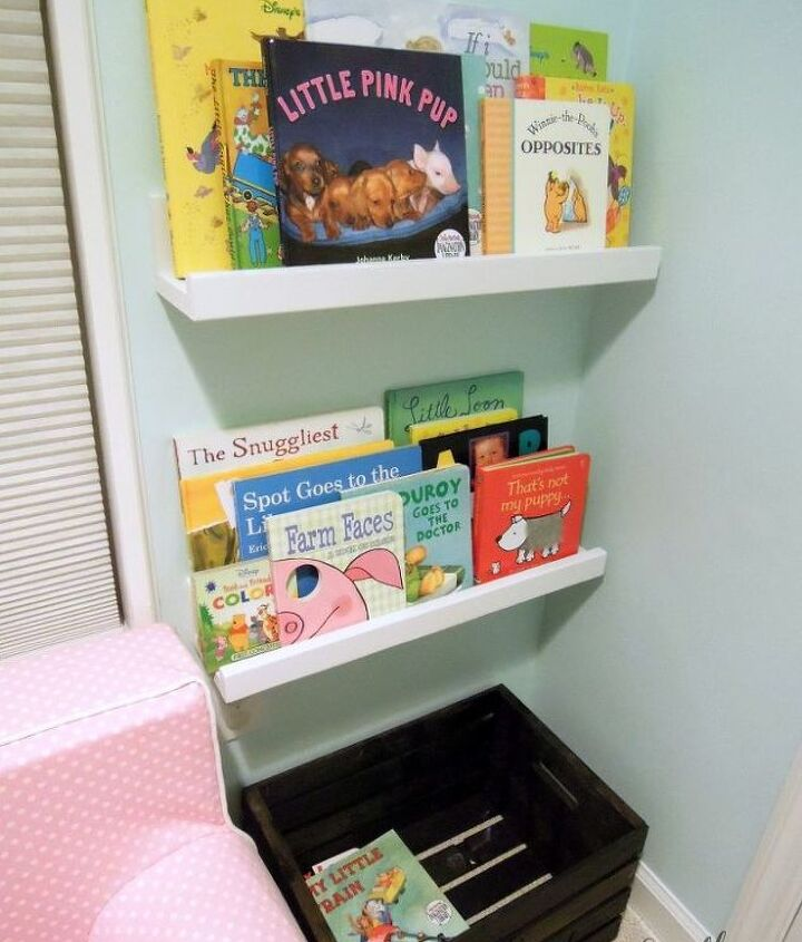 Our daughter loves this space so far. Books display so that she can see and reach them easily!