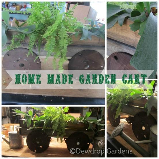 Home Made Garden Cart Flowers Gardening Repurposing Upcycling