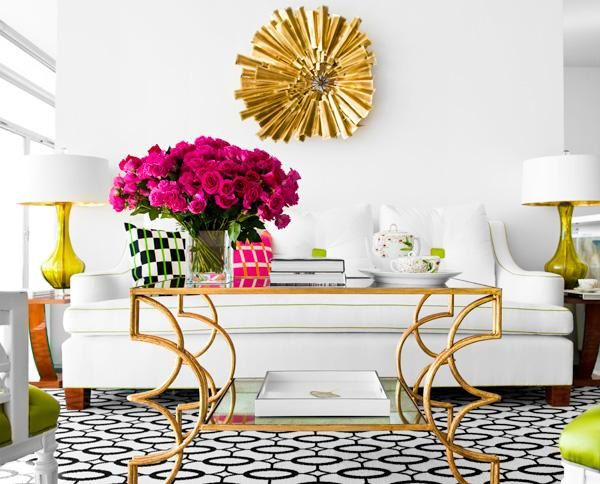 Pops of color with pops of gold accents look amazing.