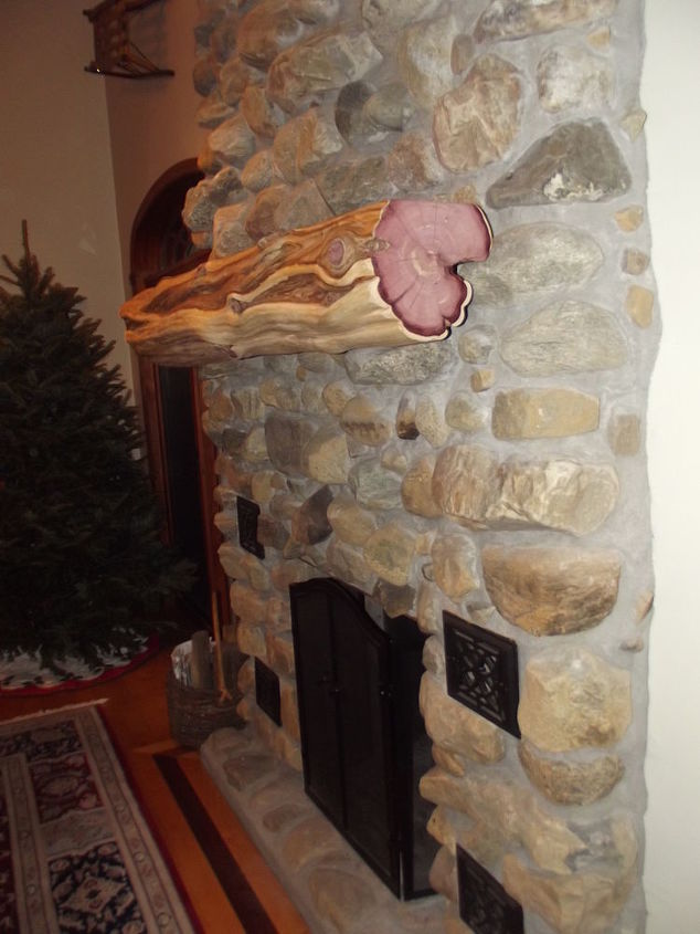 new red cedar mantle just in time for the holidays question is should i add 2, home decor