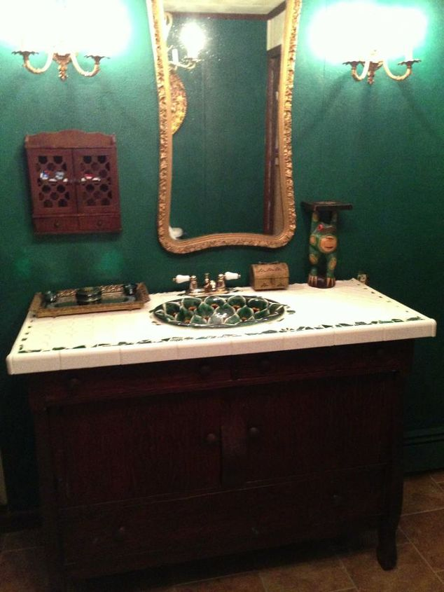 upcycled bathroom vanity, bathroom ideas, home decor, painted furniture, repurposing upcycling