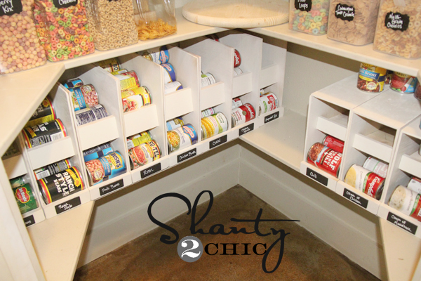Diy Canned Food Organizers