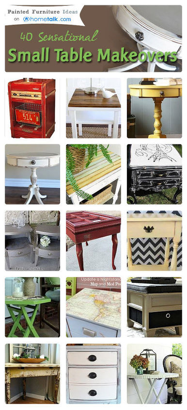 sensational small table makeovers, painted furniture