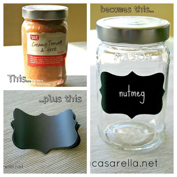 mason jar spice jar, chalkboard paint, crafts, mason jars, repurposing upcycling