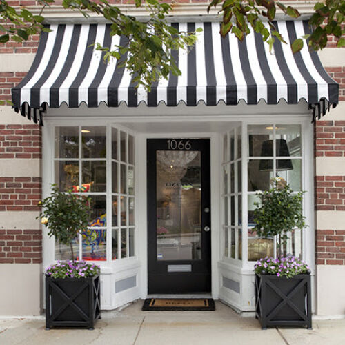 classic black & white awning