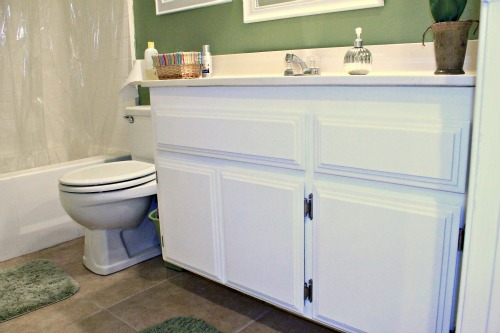 repainting bathroom cabinets quick and easy, bathroom ideas, kitchen cabinets, painting