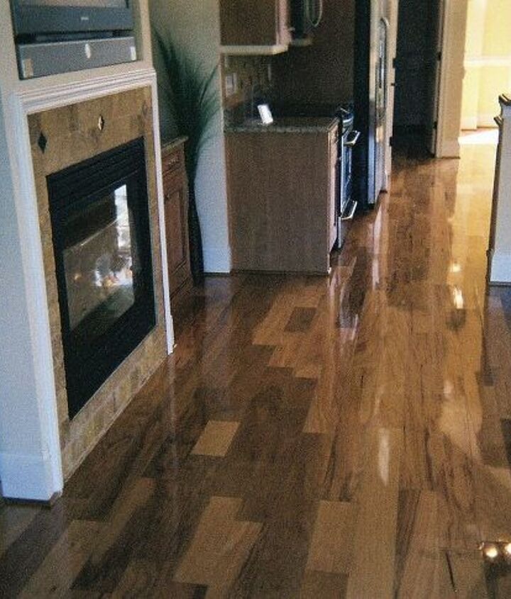 3 4 solid pecan sanded with 1 coat wood sealer and 2 polly, flooring