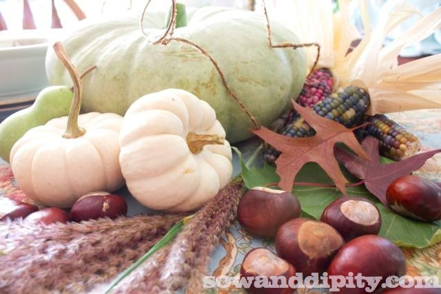 See this sage green pumpkin in a beautiful fall tablescape here: http://www.hometalk.com/2400883/rustic-vintage-tablescape