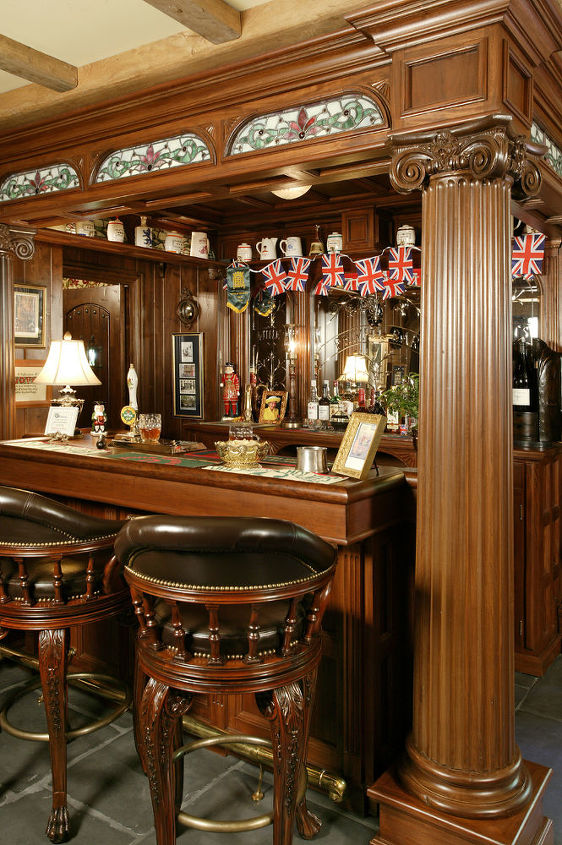 english pub, entertainment rec rooms, home decor