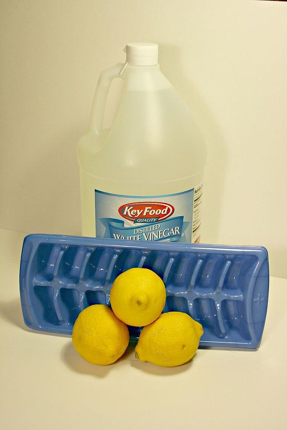 Lemons, vinegar, and water are all that is needed.