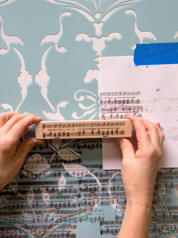 Creating special effects on a stenciled wall by using a stamp to add more personality. http://www.royaldesignstudio.com/blogs/how-to-stencil/7908799-stencil-how-to-stamping-the-splendor-damask