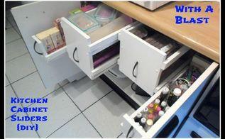sliding system for kitchen cabinets, cleaning tips, kitchen cabinets, organizing, My kitchen cabinet sliding system