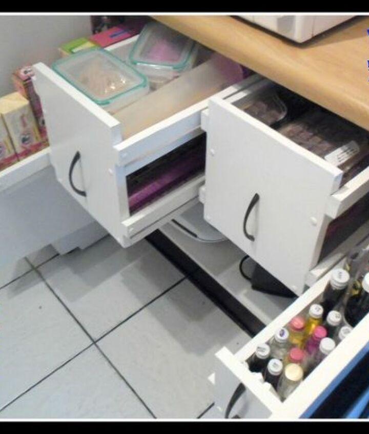 My kitchen cabinet sliding system