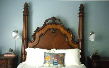 master bedroom, bedroom ideas, Head wall of bed with lights over each night stand for symmetry