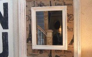 Diy Burlap Framed Mirror Hometalk