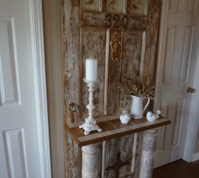 Vintage Door Turned Into Hall Tree For The Entrance, Home Decor,  Repurposing Upcycling,