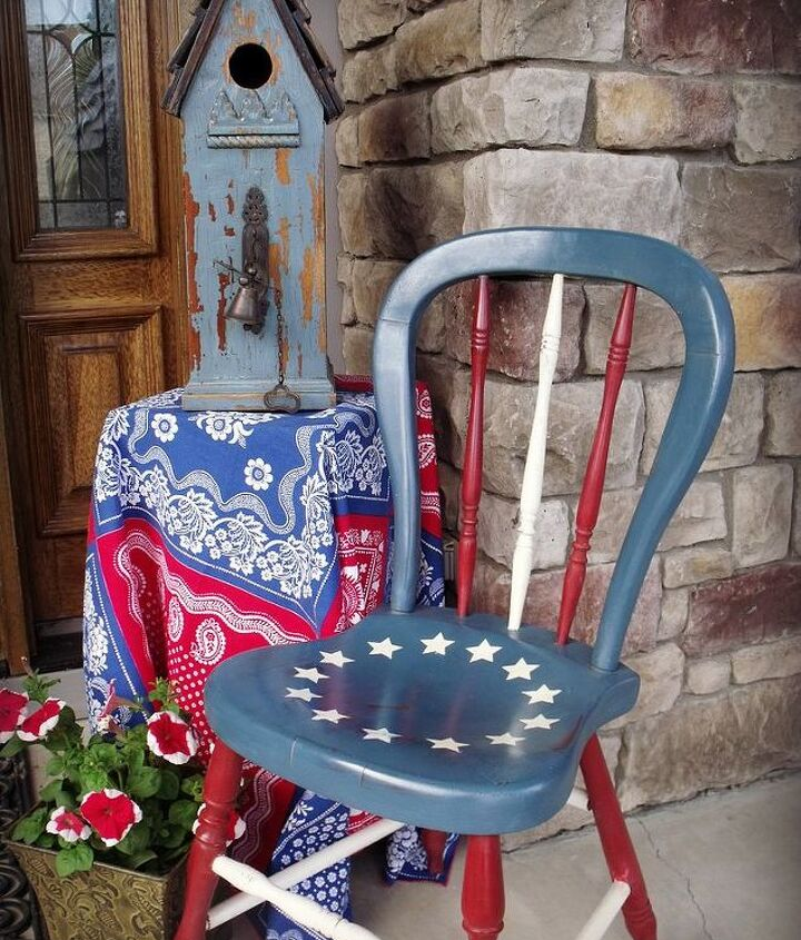 Betsy Ross handpainted chair