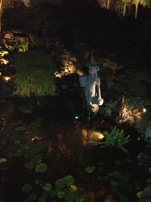 Beautiful Ponds, Water Features and Landscape Lighting were everywhere.
