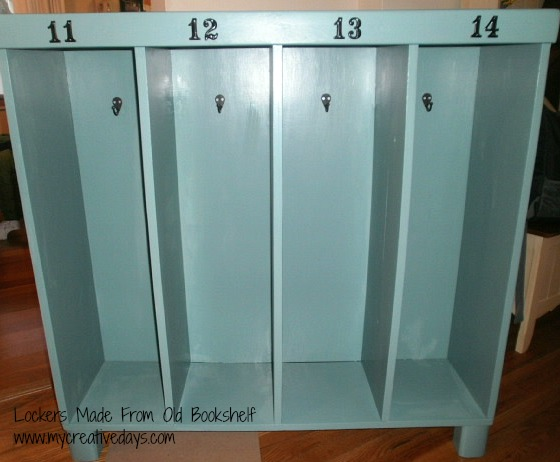 Old Bookcase Turned To Kid Lockers Painted Furniture Repurposing Upcycling Becomes