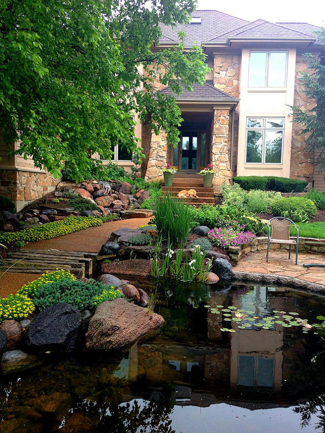 Front Yard Water Feature | Hometalk on Front Yard Waterfall Ideas id=16873