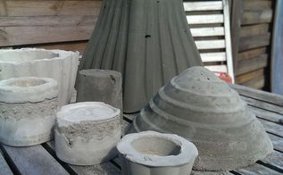 diy concrete and cement planters and candle holders, concrete masonry, container gardening, crafts, gardening, rough and ready