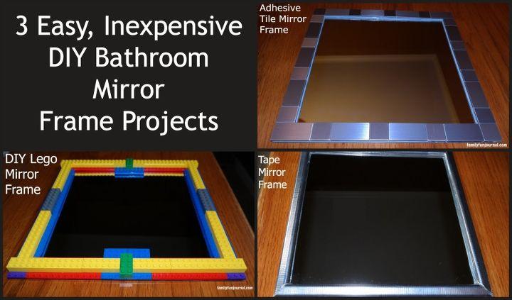 three diy bathroom mirror frames, crafts, painted furniture