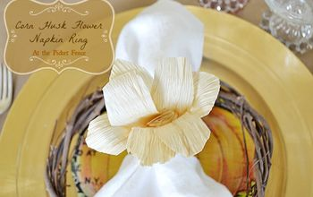 Want to know How to Make a Corn Husk Flower Napkin Ring?