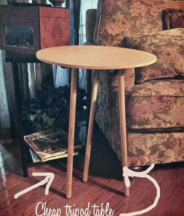 revisioned simple table into awesome dolly cart, painted furniture, repurposing upcycling