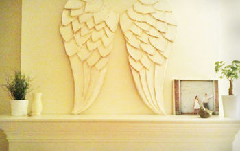 diy huge awesome angel wings, crafts, home decor