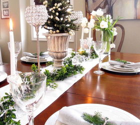 green white and silver christmas tablescape christmas decorations seasonal holiday decor  sc 1 st  Hometalk & Green white and silver Christmas tablescape | Hometalk