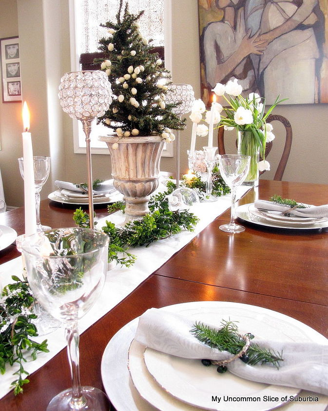 green white and silver christmas tablescape christmas decorations seasonal holiday decor - Green And Silver Christmas Decorations