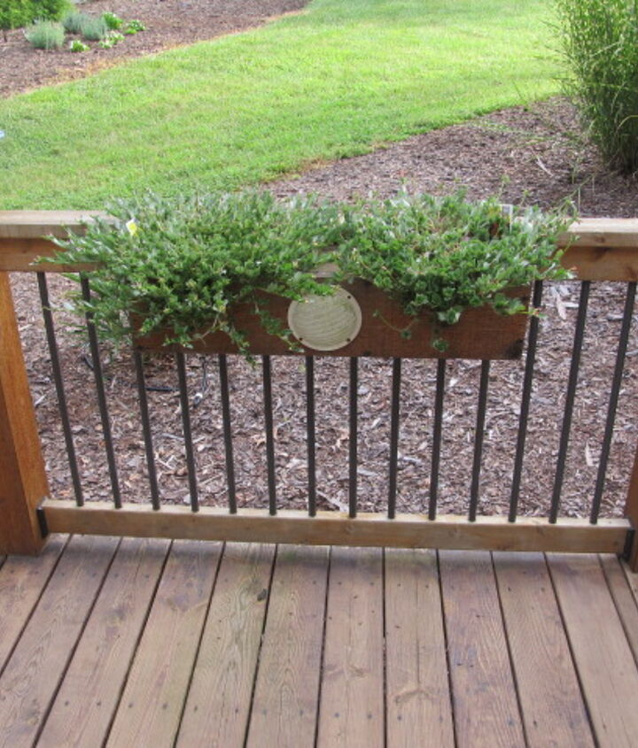 planter boxes with speakers, decks, gardening, outdoor living