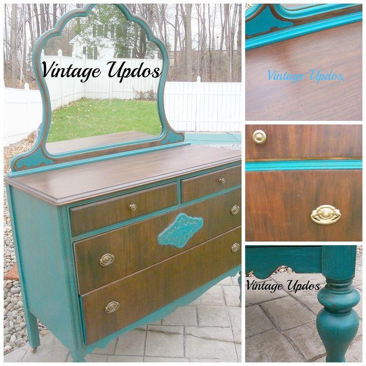 shabby paints vintage dresser, painted furniture