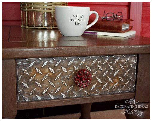 I found some diamond plate sheets at the craft store, and I knew I had to figure out how to do a project with these!