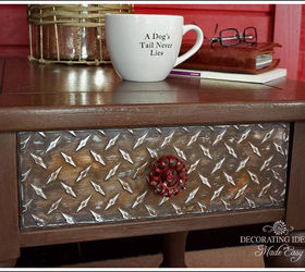 Awesome Diy Industrial Style Furniture, Painted Furniture, I Found Some Diamond  Plate Sheets At The