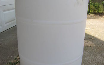 diy rain barrel, go green, recycle food grade plastic drum