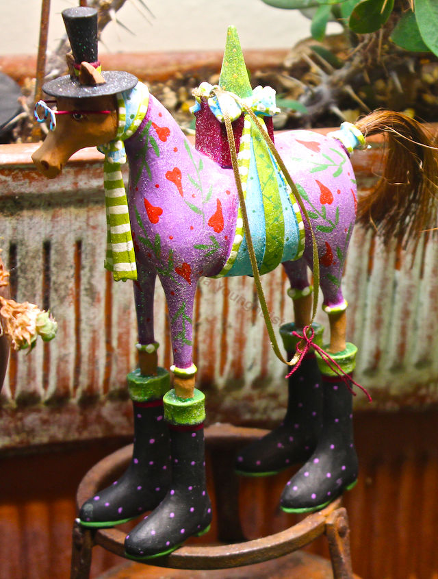 """Year of the Horse """"rep"""" as seen in my succulent garden."""