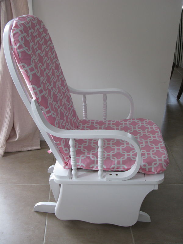 All done and pretty in pink ready for a baby girls nursery.