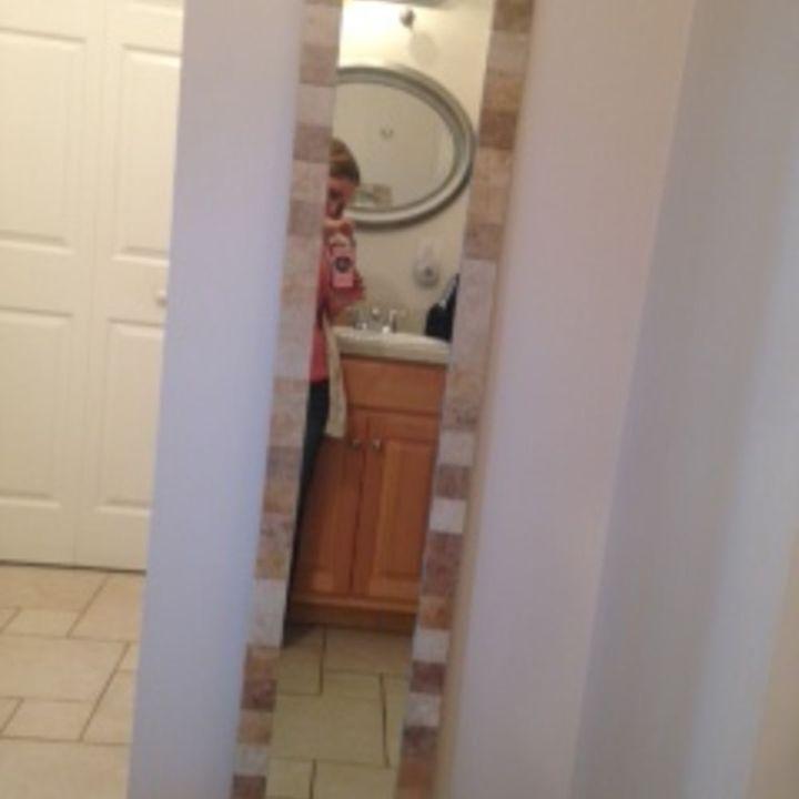 diy bathroom mirror revamp, bathroom ideas, diy, home decor, repurposing upcycling