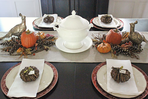I love to use natural elements in the fall.