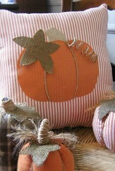 pumpkin pillow for fall from old shirts, crafts, repurposing upcycling, seasonal holiday decor, Got some old shirts Make a pillow or no sew shirt pumpkins