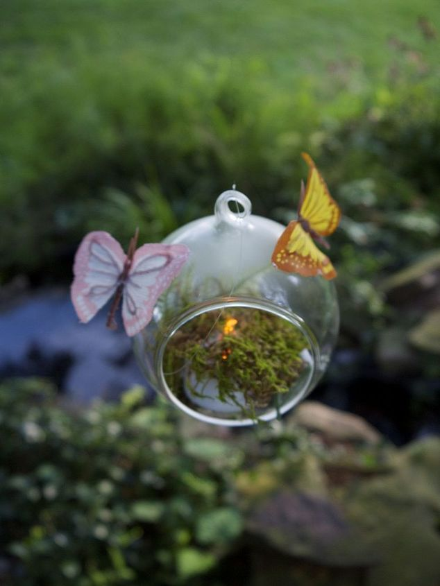flameless butterfly votives add extra spark from a previous craft project
