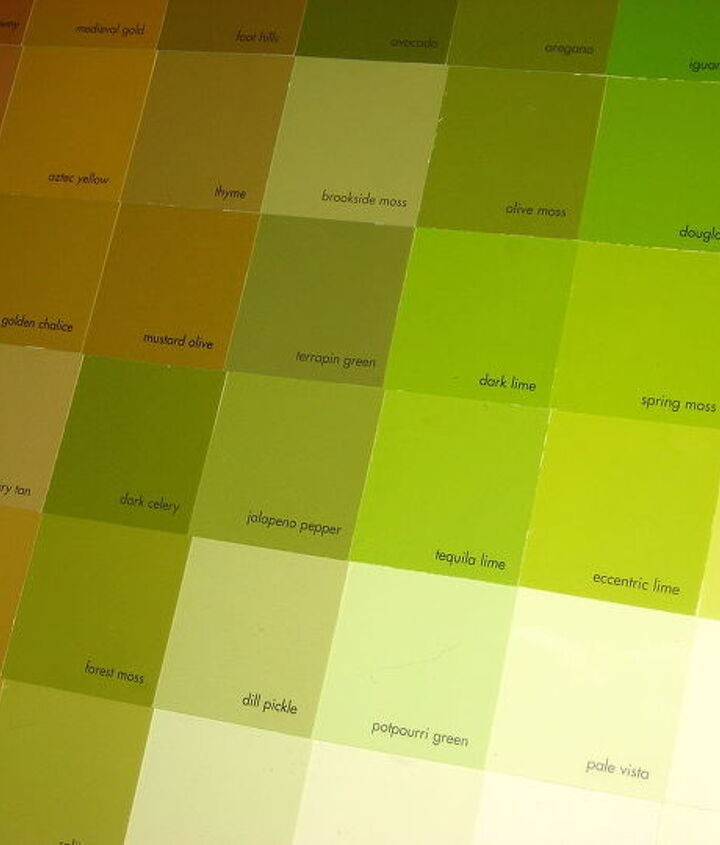 All the paint color names - fun to look at up close